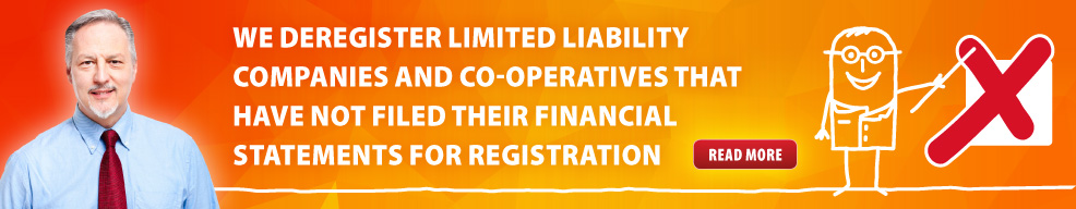 We deregister limited liability companies and co-operatives that have not filed their financial statements for registration.