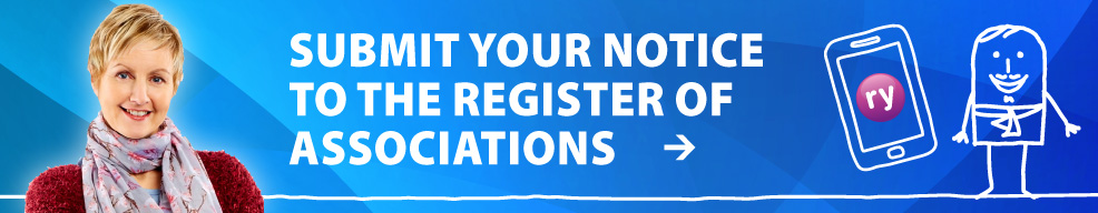 Submit your notice to the register of associations